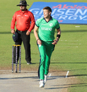 Boyd Rankin shouts for a near chance, Afghanistan v Ireland, 1st ODI, Sharjah, December 5, 2017