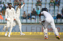 India thought they had the wicket of Dinesh Chandimal before it was revealed that Ravindra Jadeja had bowled a no-ball, India v Sri Lanka, 3rd Test, Delhi, 5th day, December 6, 2017