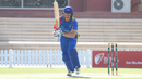 Louis van der Westhuizen drives down the ground for a boundary, Namibia v Netherlands, 2015-17 WCL Championship, Dubai, December 6, 2017