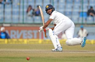 Roshen Silva turns the ball fine down the leg side