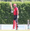 Babar Hayat raises a half-century, Hong Kong v Papua New Guinea, 1st ODI, 2015-17 WCL Championship, Dubai, December 6, 2017