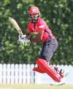 Nizakat Khan flicks off his hips for a run, Hong Kong v Papua New Guinea, 1st ODI, 2015-17 WCL Championship, Dubai, December 6, 2017