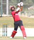 Tanwir Afsal skies a shot over cover, Hong Kong v Papua New Guinea, 1st ODI, 2015-17 WCL Championship, Dubai, December 6, 2017