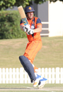 Wesley Barresi pulls behind square for another boundary, Namibia v Netherlands, 2015-17 WCL Championship, Dubai, December 6, 2017
