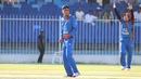 Mujeeb Zadran looks on after an appeal for a wicket is turned down, Afghanistan v Ireland, 2nd ODI, Sharjah, December 7, 2017