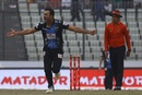 Ravi Bopara was pumped after taking a wicket, Rangpur Riders v Khulna Titans, BPL 2017 eliminator, Dhaka, December 8, 2017