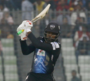 Chris Gayle smashed 14 sixes in his unbeaten 126, Rangpur Riders v Khulna Titans, BPL 2017 eliminator, Dhaka, December 8, 2017