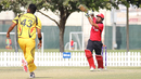 Anshuman Rath drives over mid on during his 143 not out, Hong Kong v Papua New Guinea, 2nd ODI, 2015-17 WCL Championship, Dubai, December 8, 2017