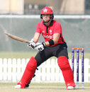 Scott McKechnie shapes to reverse scoop over third man, Hong Kong v Papua New Guinea, 2nd ODI, 2015-17 WCL Championship, Dubai, December 8, 2017