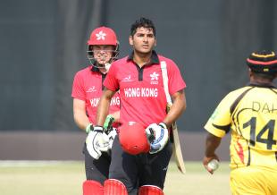 Anshuman Rath walks off unbeaten on 143 off 137 balls for his maiden ODI century