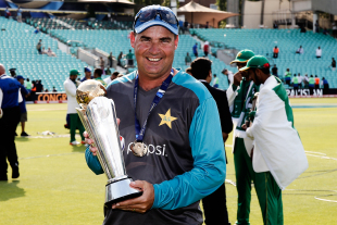 Mickey Arthur with the Champions Trophy