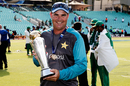 Mickey Arthur with the Champions Trophy, India v Pakistan, Champions Trophy, final, The Oval, London, June 18, 2017