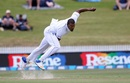 Shannon Gabriel bends his back, New Zealand v West Indies, 2nd Test, Hamilton, 1st day, December 9, 2017