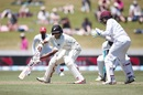 Jeet Raval drove New Zealand's strong start with a solid half-century, New Zealand v West Indies, 2nd Test, Hamilton, 1st day, December 9, 2017
