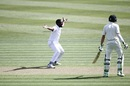 Raymon Reifer sent back Henry Nicholls for his maiden Test wicket, New Zealand v West Indies, 2nd Test, Hamilton, 1st day, December 9, 2017