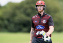 Ben Stokes walks back dejected after getting run out for 0, Canterbury v Northern Districts, Ford Trophy 2017-18, Christchurch, December 10, 2017