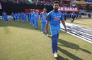 Rohit Sharma leads the team onto the field, India v Sri Lanka, 1st ODI, Dharamsala, December 10, 2017