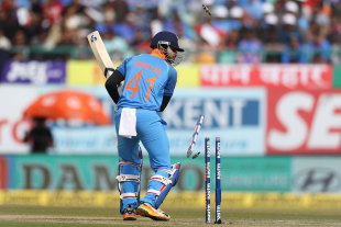 Shreyas Iyer was bowled for nine runs on debut