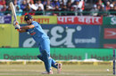 MS Dhoni steers one into the leg side, India v Sri Lanka, 1st ODI, Dharamsala, December 10, 2017