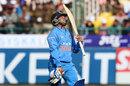 Kuldeep Yadav reacts after being dismissed, India v Sri Lanka, 1st ODI, Dharamsala, December 10, 2017