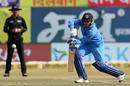 Kuldeep Yadav steers one into the off side, India v Sri Lanka, 1st ODI, Dharamsala, December 10, 2017