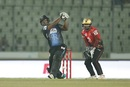 Johnson Charles hit some lusty blows early on, Comilla Victorians v Rangpur Riders, BPL 2017 qualifier 2, Dhaka, December 10, 2017