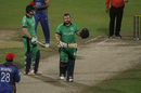 Paul Stirling celebrates after notching his sixth ODI century, Afghanistan v Ireland, 3rd ODI, Sharjah, December 10, 2017
