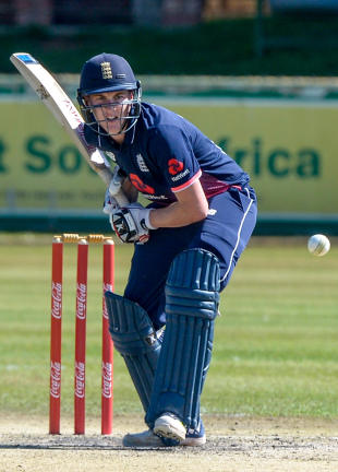 Harry Brook bats for England Under-19s