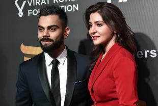Virat Kohli and Anushka Sharma at an awards function