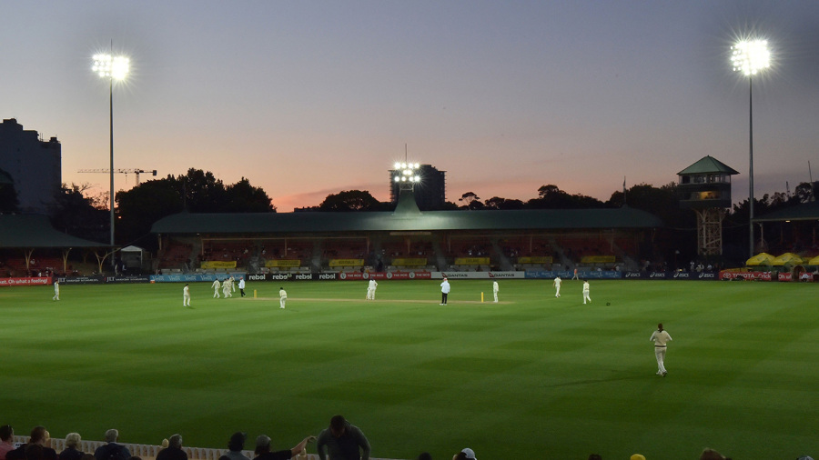 Sunset over the North Sydney Oval