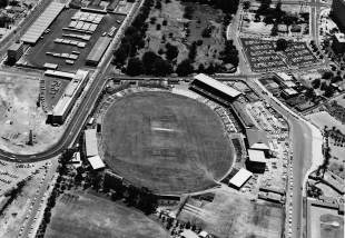 An aerial view of the WACA, Perth