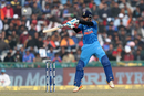 Shreyas Iyer makes room and uppercuts, India v Sri Lanka, 2nd ODI, Mohali, December 13, 2017