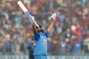 Rohit Sharma soaks in his third double-hundred in ODIs, India v Sri Lanka, 2nd ODI, Mohali, December 13, 2017