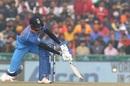 Hardik Pandya shuffles across for a scoop, India v Sri Lanka, 2nd ODI, Mohali, December 13, 2017