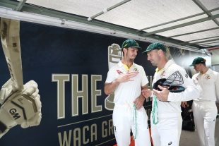 Bromance: Mitchell Marsh and Shaun Marsh shake hands