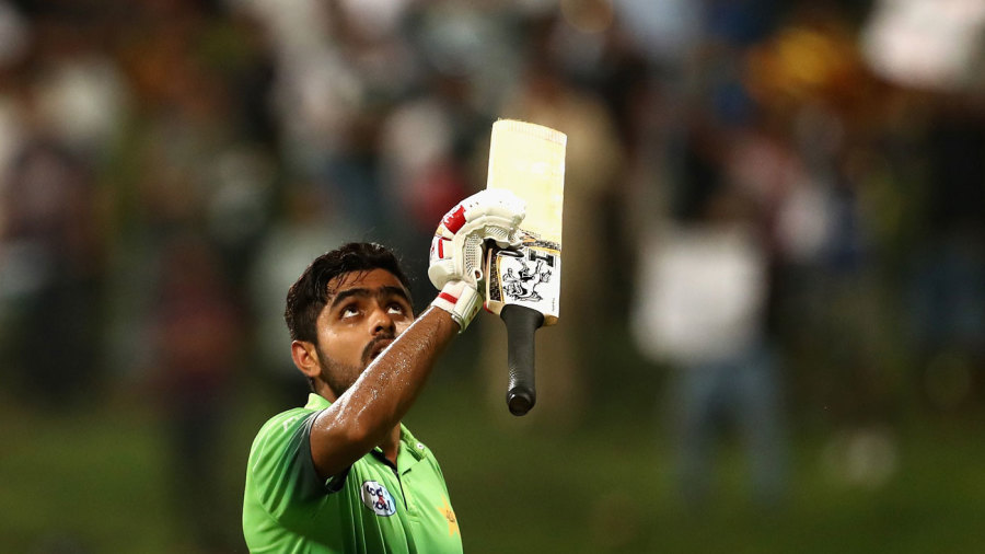 Old hat: Babar Azam after his seventh ODI hundred in 13 months