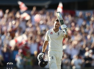 Dawid Malan takes in his maiden Test hundred