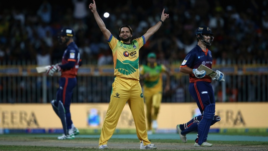 Shahid Afridi took the T10 format's first hat-trick in his first over
