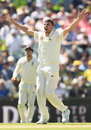Craig Overton appeals for lbw against Cameron Bancroft - which was given on review, Australia v England,  3rd Test, Perth, 2nd day, December 15, 2017