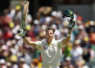 Steven Smith brought up his 22nd Test hundred