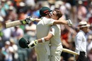 Shaun Marsh embraces Steven Smith, Australia v England, 3rd Test, Perth, 3rd day, December 16, 2017