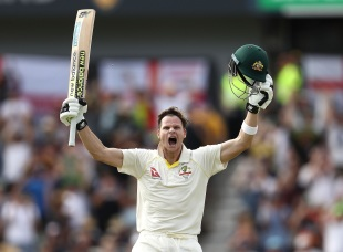Steven Smith brought up his second double-century in the Ashes