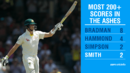 Smith became the fourth batsman to score multiple Ashes double hundreds, Australia v England, 3rd Test, Perth, 3rd day, December 16, 2017