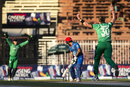 Asghar Stanikzai is bowled by Boyd Rankin, Afghanistan v Ireland, 3rd ODI, Sharjah, December 10, 2017