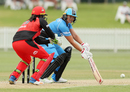 Suzie Bates steers the ball on the off side, Adelaide Strikers v Melbourne Renegades, Women's Big Bash League 2017-18, Adelaide, December 17, 2017