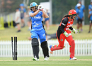 Suzie Bates was dejected after falling at a crucial juncture in the Adelaide Strikers chase, Adelaide Strikers v Melbourne Renegades, Women's Big Bash League 2017-18, Adelaide, December 17, 2017