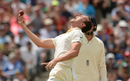 Josh Hazlewood lets out a roar after taking a catch, Australia v England, 3rd Test, Perth, 4th day, December 17, 2017