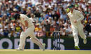 Steve Smith's elated after taking the catch to dismiss Joe Root, Australia v England, 3rd Test, Perth, 4th day, December 17, 2017