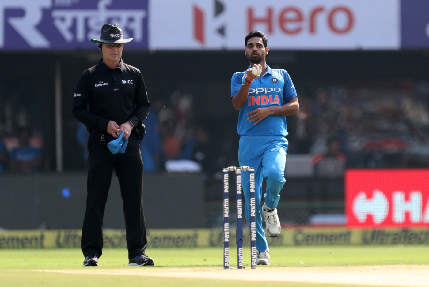 Watch: Bhuvneshwar Kumar Castles Aaron Finch With A Beauty To Pick His 100th ODI Wicket 1