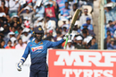 Upul Tharanga celebrates his half-century, India v Sri Lanka, 3rd ODI, Visakhapatnam, December 17, 2017